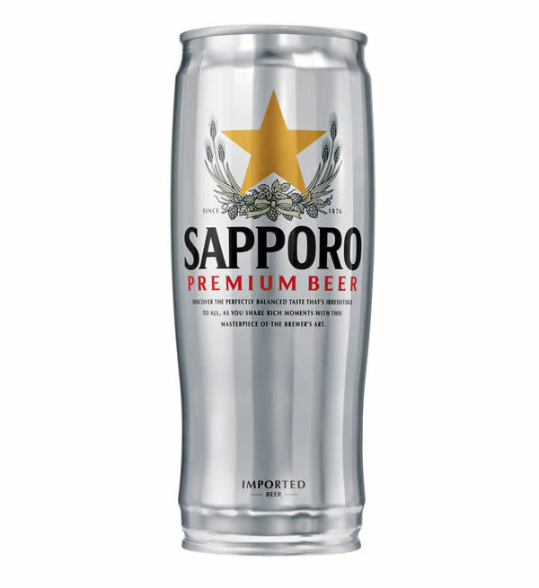 SAPPORO Beer Silver Can 650ml.
